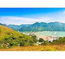 Tai O landscape from mountains in Hong Kong Photographic Print