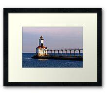 Michigan City, Indiana Light at Dawn Framed Print