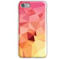 Rose Bonbon Pink Abstract Low Polygon Background iPhone Case/Skin