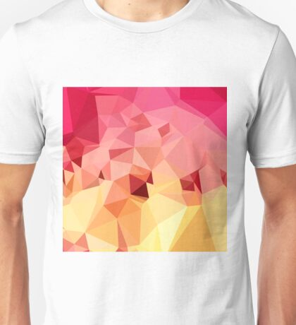 Rose Bonbon Pink Abstract Low Polygon Background Unisex T-Shirt