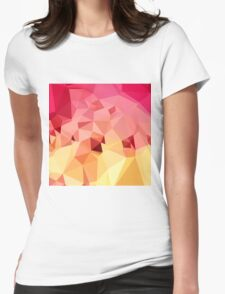 Rose Bonbon Pink Abstract Low Polygon Background Womens Fitted T-Shirt