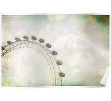 London Eye Rainbow Poster