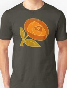 Retro Seventies style rose flower orange Unisex T-Shirt