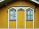 Blue Windows & Yellow Wall by Lucinda Walter
