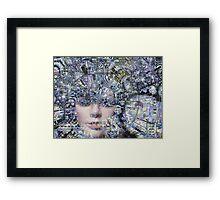 Electronic Love Framed Print