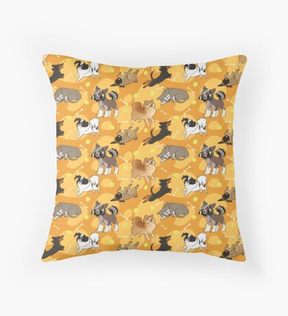 Playful Pups Throw Pillow