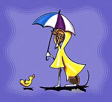 Italian Greyhound Nice Day for a Duck by offleashart