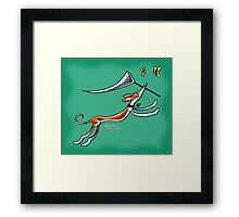 Ibizan Hound Butterfly Catcher Framed Print