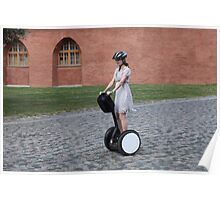 girl on the Segway Poster