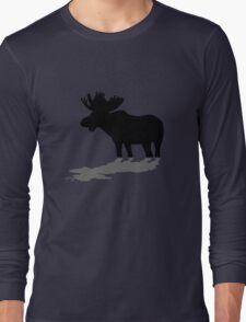 Moose at lake Long Sleeve T-Shirt