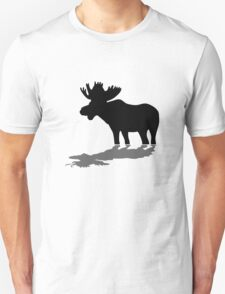 Moose at lake T-Shirt