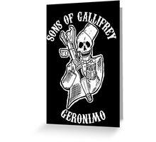 Sons of Gallifrey Greeting Card