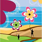 Happy Birthday Greeting Card by balhashki