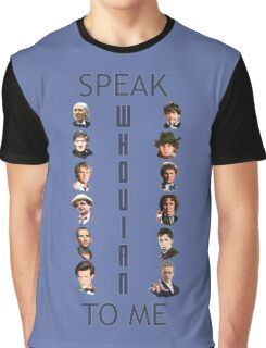 Doctor Who - Speak whovian to me Graphic T-Shirt