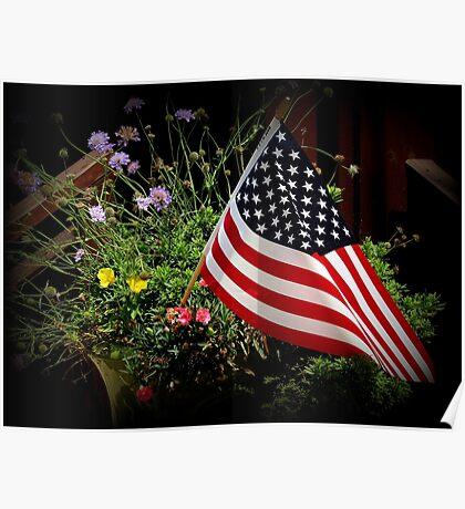 Patriotic Bouquet Poster