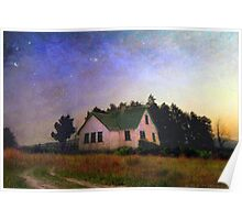 old house at twilight Poster