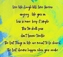 Inspirational Quotes by Belinda Lindhardt