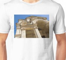 Of Arches and Stone Carvings - St. Catherine of Italy Church in Valletta, Malta Unisex T-Shirt