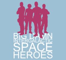 Big damn intergalactic space heroes. (Clothing/pink design) Kids Clothes