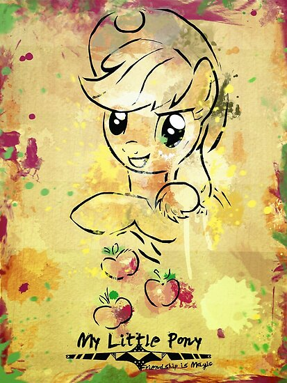 Poster: Applejack by kimjonggrill