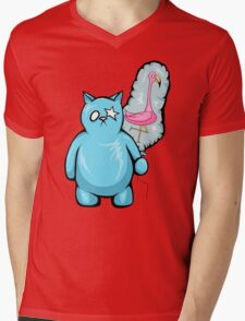 Kool Kat Mens V-Neck T-Shirt