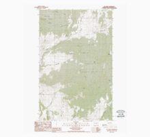 USGS Topo Map Washington State WA Mt Annie 242610 1988 24000 Baby Tee