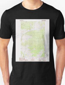USGS Topo Map Washington State WA Mt Annie 242610 1988 24000 Unisex T-Shirt