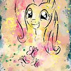 Poster: Fluttershy by kimjonggrill