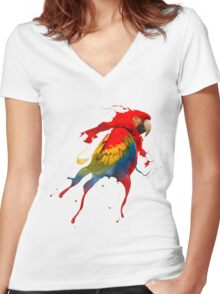 Creative parrot Women's Fitted V-Neck T-Shirt