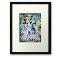 Poster: Rainbow Dash Framed Print
