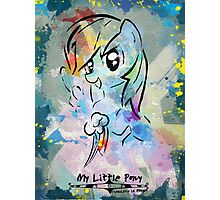 Poster: Rainbow Dash Photographic Print