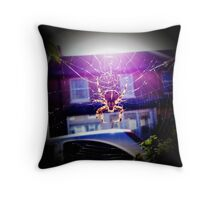 Garden Spider Throw Pillow