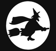 WITCH Broom Wizard Moon Halloween Party Custome Witchcraft Cool Kids Clothes