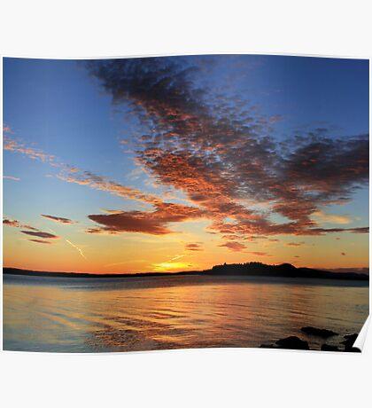 Sunrise 3-23-12 Lake Winnipesaukee Poster