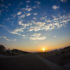 Sun setting by Rudy Caballero