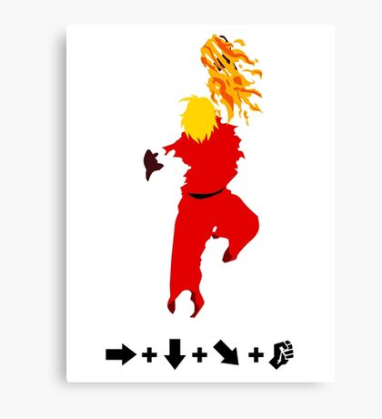 Vector Shoryuken 2  Canvas Print