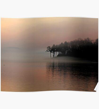 Foggy Morning Lake Winnipesaukee March 2012 Poster