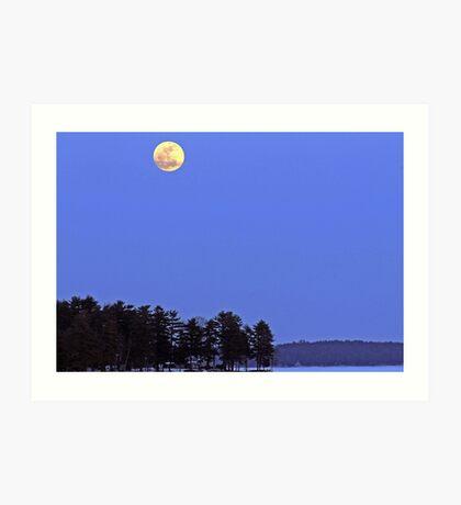 Full Moon Governors Island, Lake Winnipesaukee Art Print