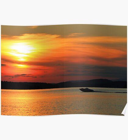 Sunset Lake Winnipesaukee  Poster