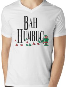 BAH HUMBUG Christmas T-Shirt Mens V-Neck T-Shirt