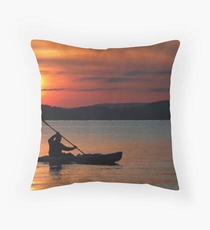 Sunset Lake Winnipesaukee 6-9-12 #1 Throw Pillow