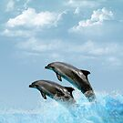 Leaping Dolphins by tapiona