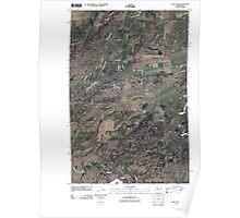USGS Topo Map Washington State WA Lance Hills 20110503 TM Poster