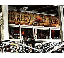 Harley Beach Bar Photographic Print
