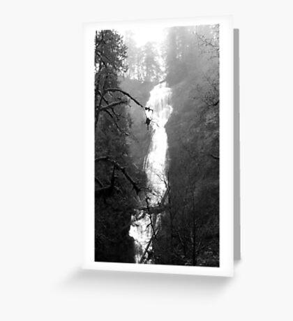 Eerie Munson Creek Falls Greeting Card
