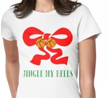 "Merry Christmas T-Shirt ""Jingle My Bells"" Womens Fitted T-Shirt"