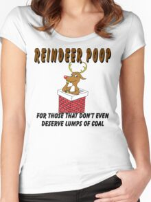 """Christmas T-Shirt """"Reindeer Poop"""" For Really Bad People  Women's Fitted Scoop T-Shirt"""