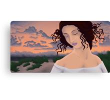 Leda at the Beach Canvas Print