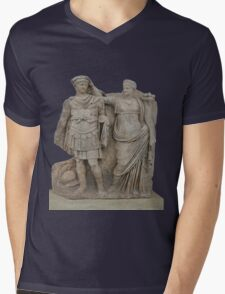 Nero and His Mother, Agrippina Mens V-Neck T-Shirt
