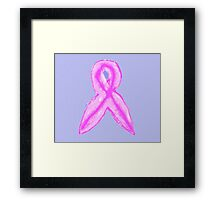 2012 pink ribbon for Breast Cancer Awareness Month in Australia - October  Framed Print
